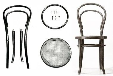 Chaise-Thonet-n°14-expédiable-demontable-ikea-kit