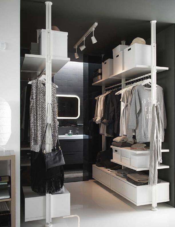 Opter Pour Un Dressing Ouvert Avec Le Systeme Elvarli De Ikea