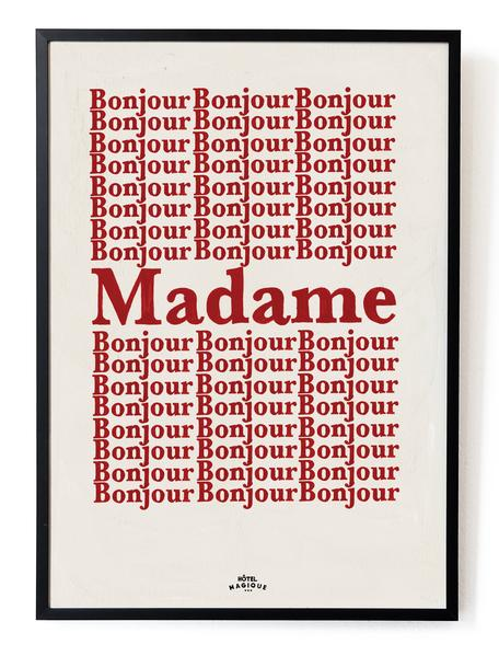 bonjour-madame-art-print-hotel-magique-tableaux-et-posters-a-prix-abordable