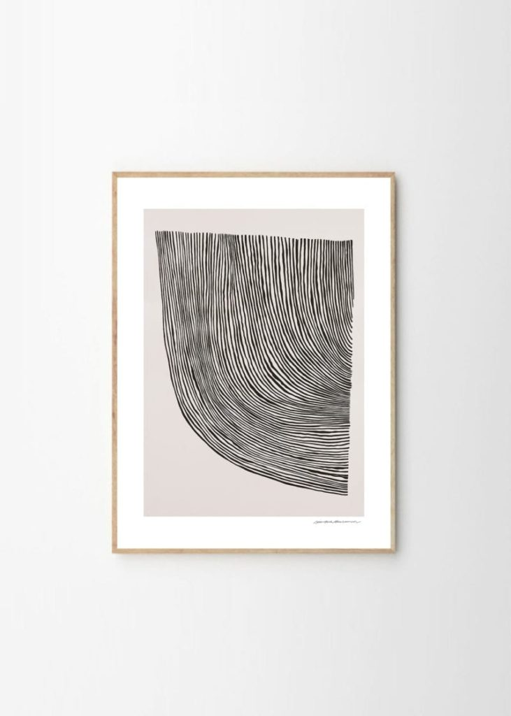leise-dich-abrahamsen-lines-the-Poster-Club-posters-a-prix-abordable